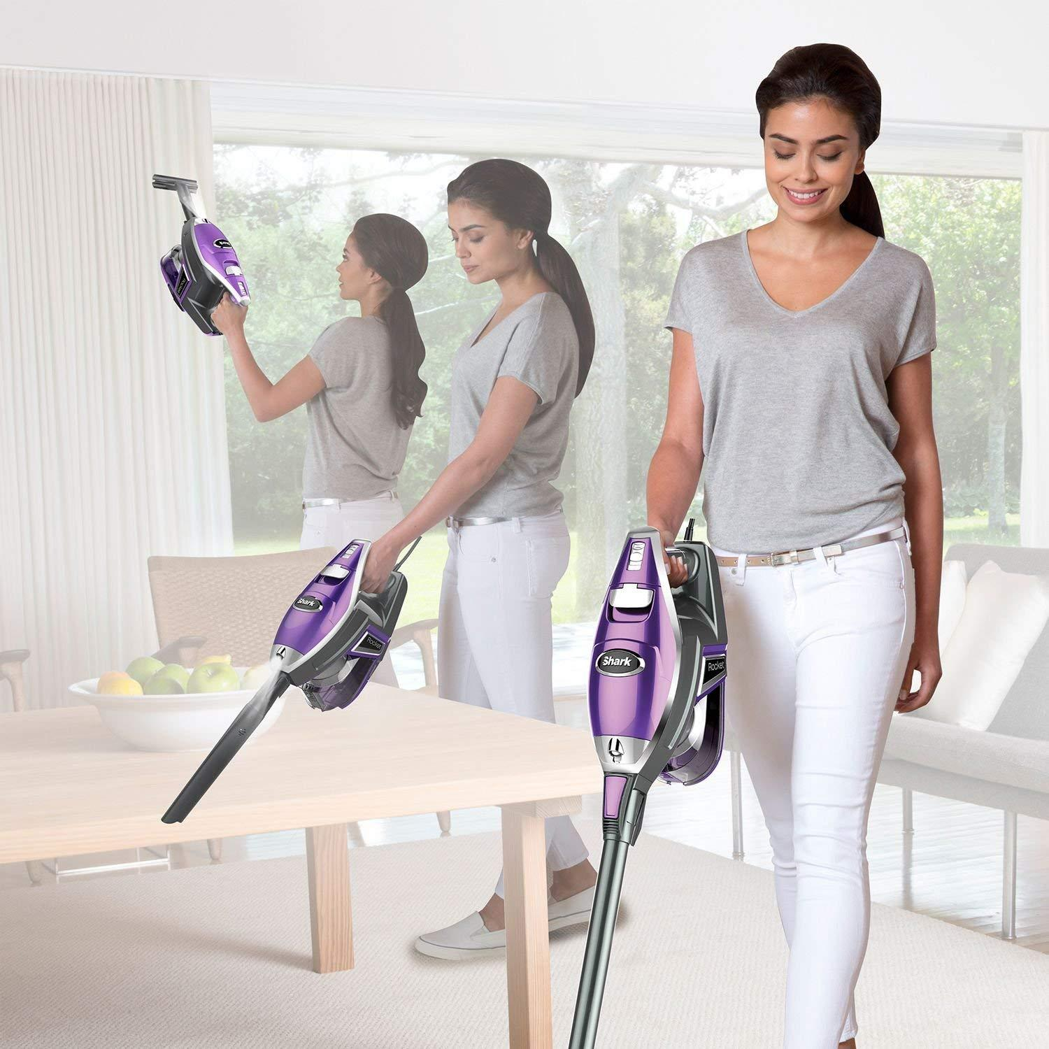 Shark UV422 Rocket Deluxe Pro Ultra-Light Upright Stick Vacuum (Renewed)