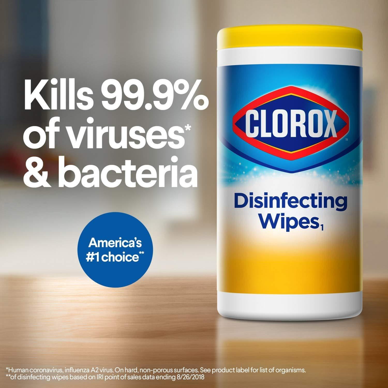Clorox Disinfecting Wipes, Bleach Free Cleaning Wipes, Crisp Lemon, 35 Count